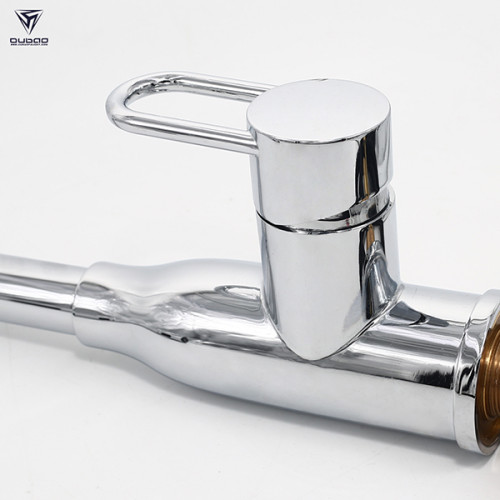 chrome plate copper sink mixer tap single handle pull out kitchen faucet