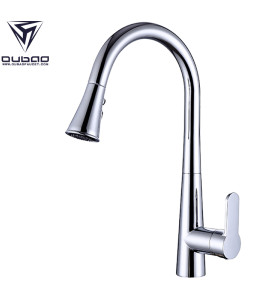 Wholesale Single Handle Chrome Kitchen Faucet with Pull Out Spray