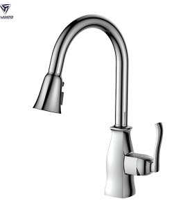 Wholesale market single lever design water tap brass kitchen faucet pull down