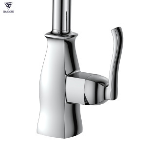 OUBAO Kitchen Faucet with Pull Out Sprayer and Brushed Nickel Spot Resist Free Stainless