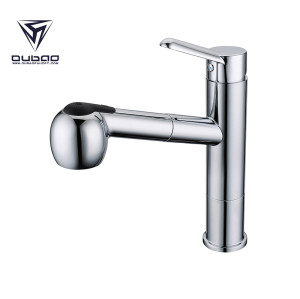 OUBAO Single Handle Pull Out Kitchen Taps With Moveable Head