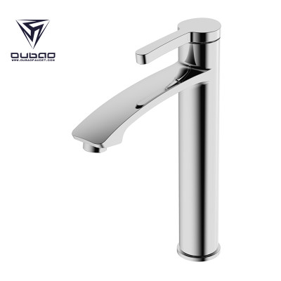 OUBAO Bathroom Basin Faucet Single lever Chrome Brass