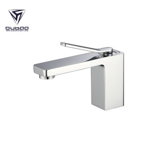 OUBAO Bathroom Basin Faucet Brass Normal tall Chrome