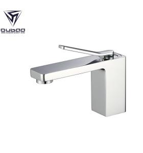 OUBAO Brass Basin Faucet for Bathroom, Normal Tall Chrome Color