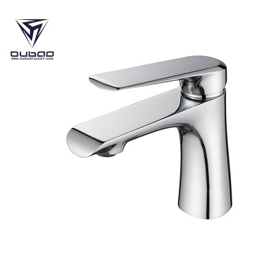 OUBAO Surprised brass faucets bathroom sink Chrome