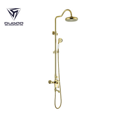 OUBAO Luxury Product Tube Wall Mounted Double Shower Faucet