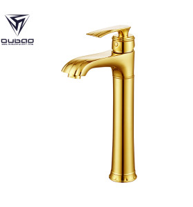 OUBAO Single Handle Vessel Sink Bathroom Faucet Gold Finished on Sale