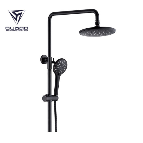 OUBAO Luxury Surface Mounted Shower Faucet And Rainfall Head Shower Set