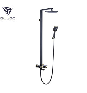 OUBAO Shower Faucet Set With Rain Shower Head And Hand Shower