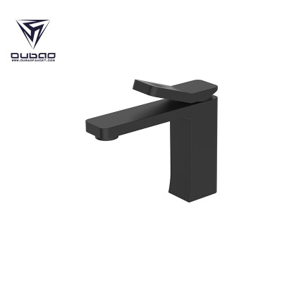 OUBAO Bathroom Basin Faucet Black Brass Washbasin