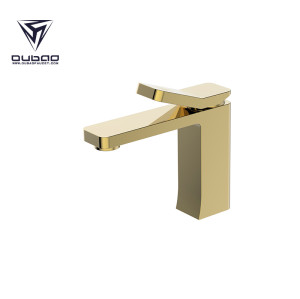 OUBAO Bathroom Basin Faucet Gold Brass Washbasin