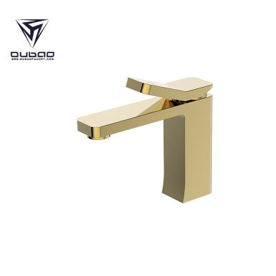 OUBAO Bathroom Basin Faucet Gold Brass Washbasin