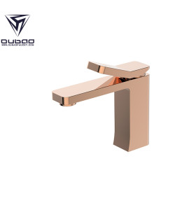 OUBAO Bathroom Basin Faucet Rose Gold Brass Washbasin
