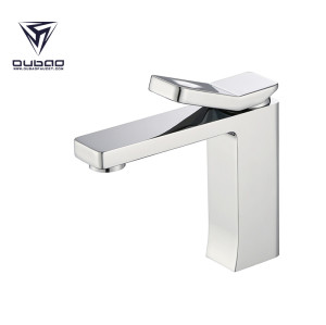 OUBAO Bathroom Basin Faucet Chrome Brass Washbasin