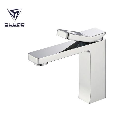 OUBAO Bathroom Basin Faucet Chrome Brass Washbasin