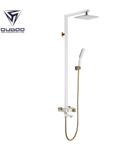 OUBAO Wall Mounted Single Handle Bathroom Shower Faucet