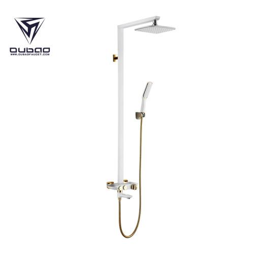 OUBAO Wall Mounted Single Handle Bathroom Shower Faucet