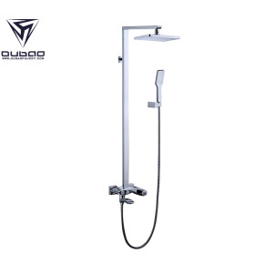 OUBAO Modern Wall Mounted Bathroom Shower Faucet Set