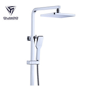 OUBAO Surface Mounted Wall Mount Bath Shower Mixer Set