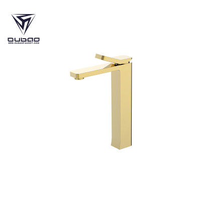 OUBAO Best Washbasin Faucet Gold Brass For China KaiPing