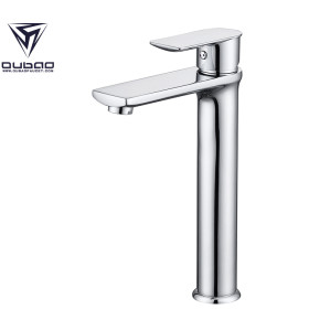 OUBAO Tall Body Chrome Plating Bathroom Mixer Taps