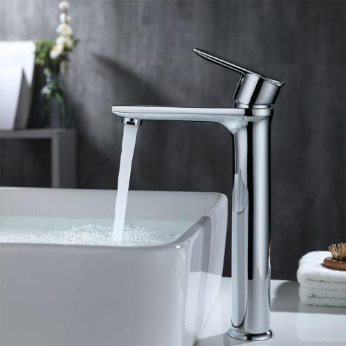 OUBAO Tall Body Chrome Plating Bathroom Mixer Taps