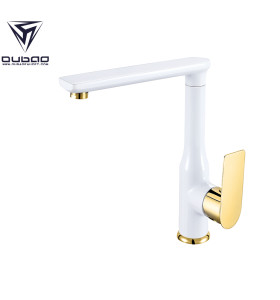 OUBAO Kitchen Faucet Gold And White You'll Love in 2021