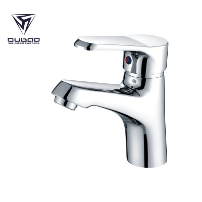 OUBAO Chrome Plating Deck Mounted Single Lever Basin Faucet