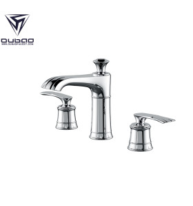OUBAO Best 3 Hole Bathroom Swivel Mixer Taps