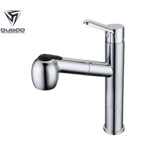 OUBAO Cheap Chrome Kitchen Faucets With Side Sprayer