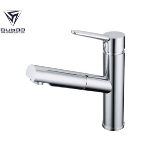 OUBAO Discount Chrome Plating Pull Out Kitchen Faucets