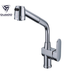 OUBAO Vintage Chrome Plating Kitchen Faucets And Sinks