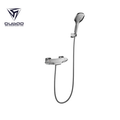 OUBAO Chrome Plating Shower Faucet With Handheld
