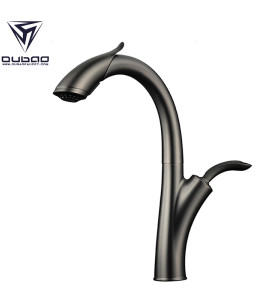 OUBAO Kitchen Sink Faucet New Design Gun Black Pull Down