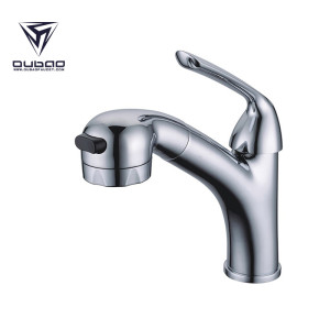 OUBAO Bathroom Basin Faucets basin Sink Taps with pull out Spray