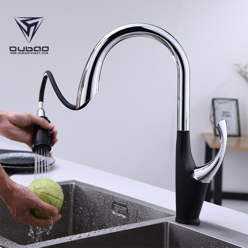 OUBAO Motion Sensor Kitchen Sink Faucet Pull Down