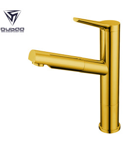 OUBAO Single Handle Golden Best Kitchen Sink Faucets