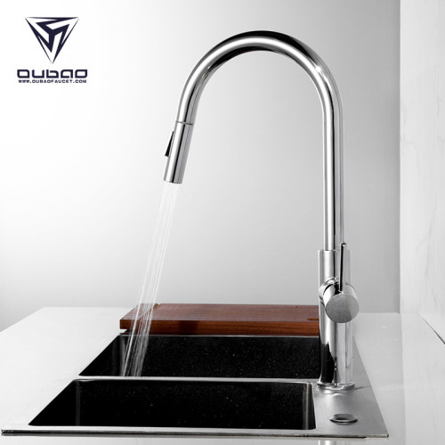 OUBAO New Tall Kitchen Sink Fuacet With Spray European kitchen faucets