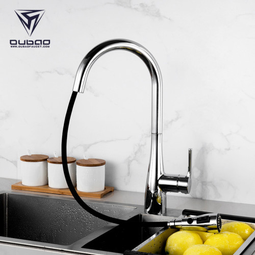 OUBAO Touch Sensor Kitchen faucet Pull Down