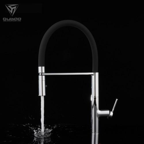 OUBAO Commercial long Spout Reach Kitchen Sink Faucet Shower Tap