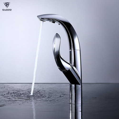 OUBAO Pull Down Kitchen Mixer Faucet New Design with Sprayer Single Handle
