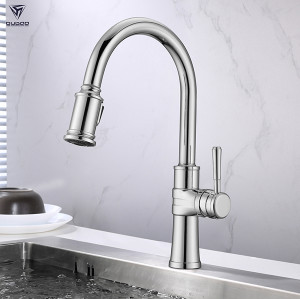 Kitchen Faucet Taps Chrome Pull Out Wall Mount Sink Faucet
