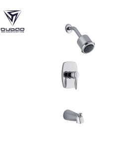 In Wall Hot And Cool Chrome Bath Shower Faucet Set