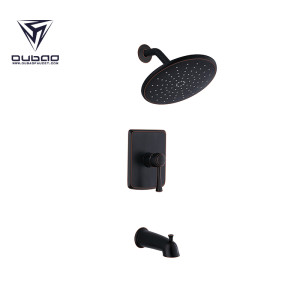 OUBAO Single Handle Oil Rubbed Bronze Shower Faucet Set
