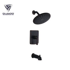OUBAO Single Handle Oil Rubbed Bronze Shower Faucet Set