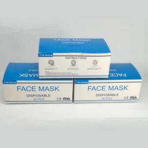 Disposable Face Mask CE/FDA/Wholesale 3 Layers