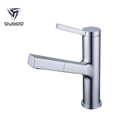 OUBAO High Quality Single Handle Bathroom Wash Basin Faucet