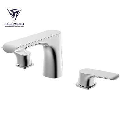 Dual Handle Contemporary Basin Faucet