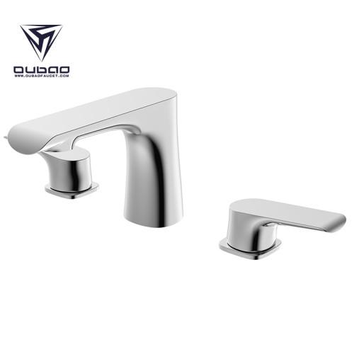 Dual Handle Contemporary Basin Faucet