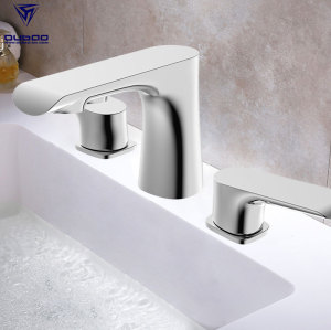 Dual Handle Contemporary Basin Vanity Faucet